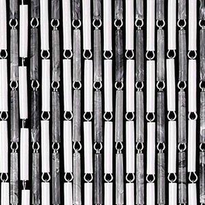 Vliegengordijn hulzen wit/grijs 90x210cm