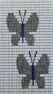 Vliegengordijn vlinders hulzen 90x210cm