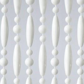 Vliegengordijn kralen wit 90x210cm (op bestelling)