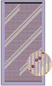 Vliegengordijn hout kralen lines 90x195cm
