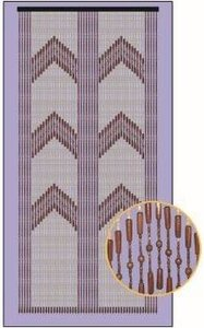 Vliegengordijn hout kralen saloon 90x195cm