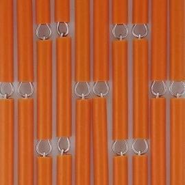 Vliegengordijn op maat: hulzen verspringen oranje
