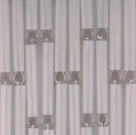 Vliegengordijn op maat: hulzen verspringen transparant