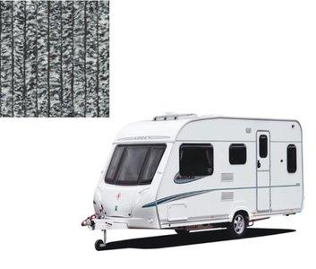 Vliegengordijn caravan zwart/wit 56x185cm